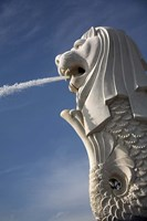 Singapore. Merlion statue in the Merlion Park Fine-Art Print
