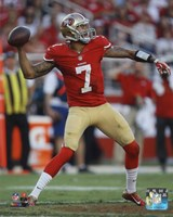 Colin Kaepernick 2014 Throw Fine-Art Print