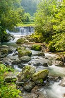 Waterfall and River, Rize, Black Sea Region of Turkey Fine-Art Print