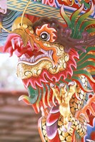 Thailand, Bangkok Dragon in chinese temple Fine-Art Print