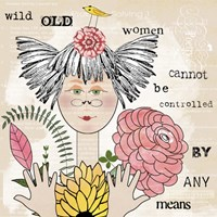 Wild Old Woman I Fine-Art Print