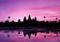 View of Temple at Dawn, Angkor Wat, Siem Reap, Cambodia Fine-Art Print
