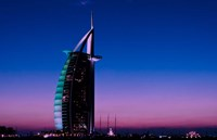 Sunset at the Burj Al Arab, Dubai, United Arab Emirates Fine-Art Print