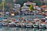 Old Harbor and boats in reflection Antalya, Turkey Fine-Art Print