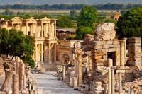 Street of Curetes, Celsus Library, Ephesus, Turkey Fine-Art Print