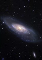 Messier 106, A Spiral Galaxy in the Constellation Canes Venatici Fine-Art Print