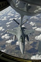 Chilean Air Force F-16 refuels from a US Air Force KC-135 Stratotanker Fine-Art Print