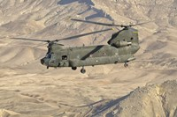 Italian Army CH-47C Chinook Helicopter Over Afghanistan Fine-Art Print