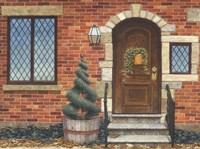 Front Door with Basket Fine-Art Print