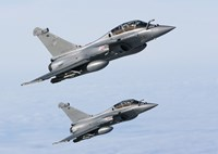 Two Dassault Rafale B's of the French Air Force (side view) Fine-Art Print