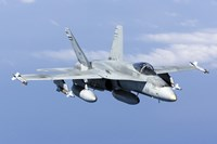 A CF-188A Hornet of the Royal Canadian Air Force (front view) Fine-Art Print