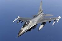 Dutch F-16AM Over the Mediterranean Sea (top view) Fine-Art Print