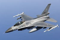Dutch F-16AM Over the Mediterranean Sea (close up) Fine-Art Print