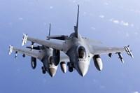 Two Dutch F-16AMs Over the Mediterranean Sea Fine-Art Print