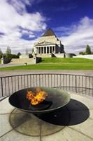 Eternal Flame, Shrine of Rememberance, Melbourne, Victoria, Australia Fine-Art Print
