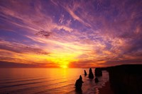 Sunset, Twelve Apostles, Port Campbell National Park, Great Ocean Road, Victoria, Australia Fine-Art Print