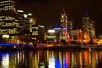 Yarra River, Queens Bridge and CBD, Melbourne, Victoria, Australia Fine-Art Print