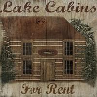 Lake Cabin Fine-Art Print