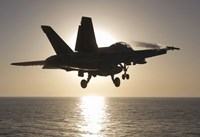 F/A-18F Super Hornet in the Morning Sun over the Arabian Sea Fine-Art Print