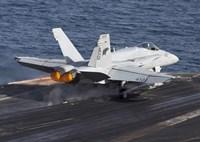 F/A-18C Hornet Taking Off from the USS Dwight D Eisenhower Fine-Art Print