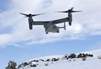 CV-22 Osprey Prepares to Land During a Training Mission Fine-Art Print