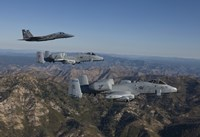 F-15 Eagle and Two A-10 Thunderbolts, Central Idaho Fine-Art Print