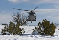 HH-60G Pave Hawk Flies Low in New Mexico Fine-Art Print