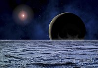 Distant Star Illuminates an Extrasolar Planet Fine-Art Print