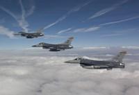 Three F-16's over the Clouds of Arizona Fine-Art Print