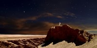 Artist's Depiction of a Lone Astronaut on Another Planet Fine-Art Print