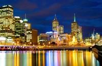Nighttime View, Melbourne, Australia Fine-Art Print