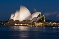 Australia, Sydney Opera House at night on waterfront Fine-Art Print