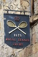 Sign for Royal Tennis Court (1875), Tasmania, Australia Fine-Art Print