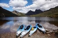 Kayaks, Cradle Mountain and Dove Lake, Western Tasmania, Australia Fine-Art Print