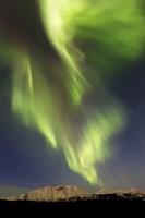Aurora Borealis over Emerald Lake, Carcross, Yukon, Canada Fine-Art Print