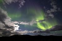 Aurora Borealis with Moonlight at Fish Lake, Yukon, Canada Fine-Art Print