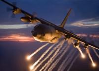 C-130 Hercules Releases Flares Fine-Art Print