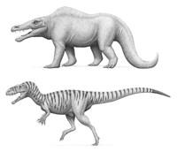 Megalosaurus Bucklandii, Past and Present Fine-Art Print