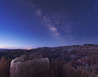 Milky Way over the Needle Rock Formations of Bryce Canyon, Utah Fine-Art Print