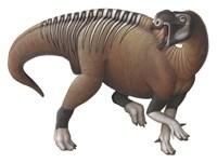 Muttaburrasaurus Dinosaur from the Early Cretaceous Period Fine-Art Print