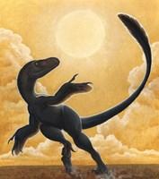 Deinonychus Antirrhopus Dancing in the Sun Fine-Art Print