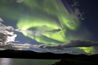 Aurora borealis over Fish Lake, Yukon, Canada Fine-Art Print