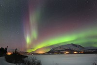 Aurora Borealis over Nares Lake, Carcross, Yukon, Canada Fine-Art Print