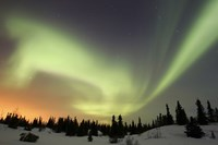Aurora borealis over Ogilvie Mountains Fine-Art Print