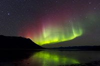 Aurora Borealis with Big Dipper over Kluane Lake, Yukon, Canada Fine-Art Print