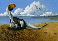 Dilophosaurus on the beach Fine-Art Print