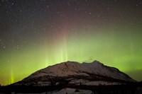 Aurora Borealis and Milky Way over Carcross Desert Fine-Art Print