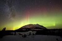 Aurora Borealis and Milky Way over Carcross Desert, Canada Fine-Art Print