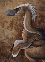 Velociraptor, a Dromaeosaurid dinosaur of the Cretaceous Period Fine-Art Print