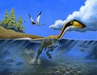 Megapnosaurus Dinosaur Goes for a Swim Fine-Art Print